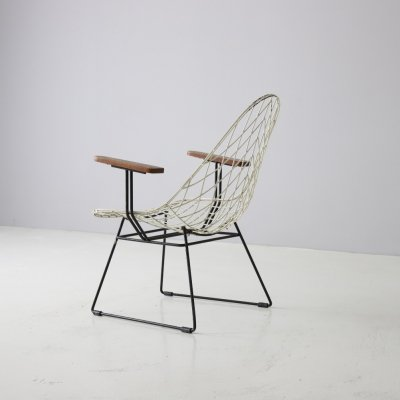 Very rare wire lounge chair by Cees Braakman for Pastoe, 1950s