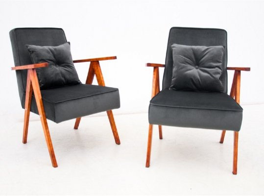 Pair of Armchairs, Poland 1960s