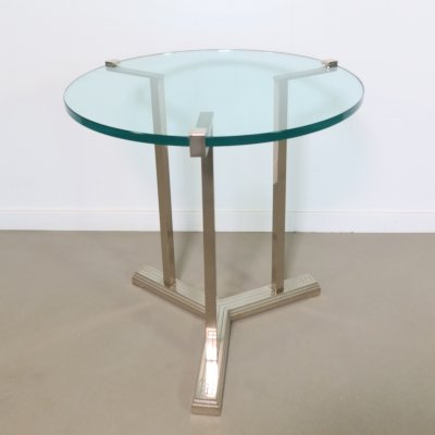 Silver brass side table by Peter Ghyczy, 1970's