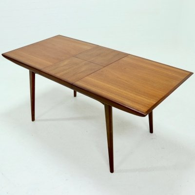 Teak Dining Table by Louis van Teeffelen for WeBe, 1950's
