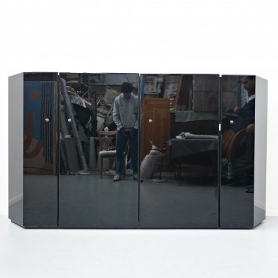 Black lacquered cabinet by Kazuhide Takahama for Cassina