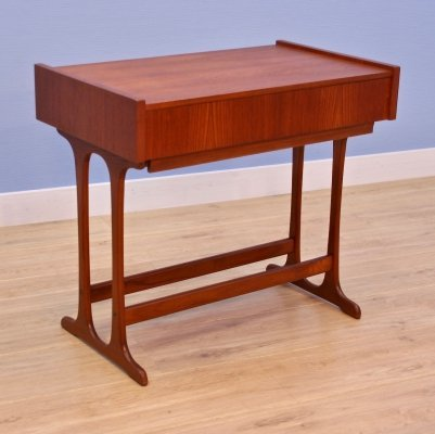 Danish sewing table / side table in teak, 1960s