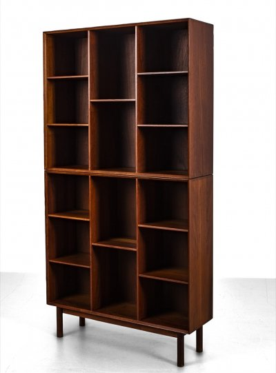 Two parts teak book case by Hvidt & Mølgaard for Søborg