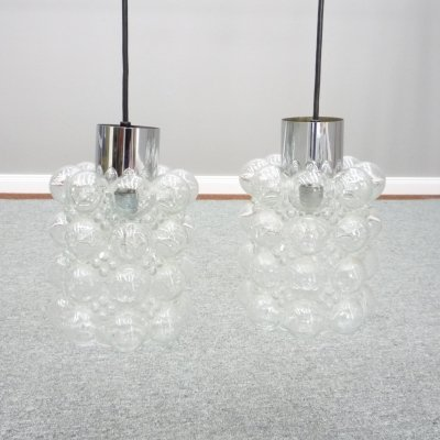 Pair of Space Age Pendant Lamps by Helena Tynell, 1960s