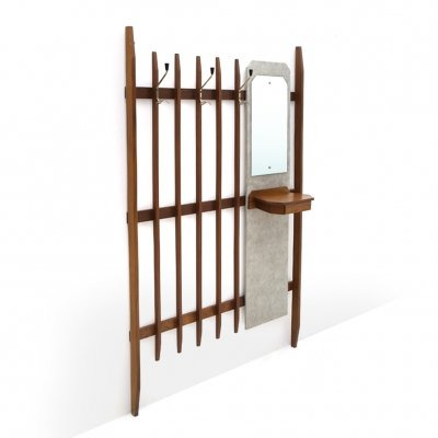 Coat hanger with mirror & console, 1960's