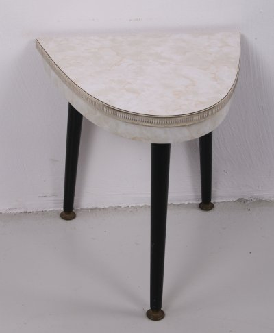 Vintage Wall Plant Table with detailed edge, 1960s