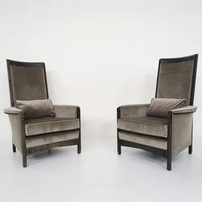 Set of two Umberto Asnago for Giorgetti 'Peggy 63970' lounge chairs, Italy 1990