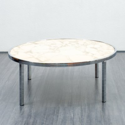 Mid-Century 1970s marble coffee table