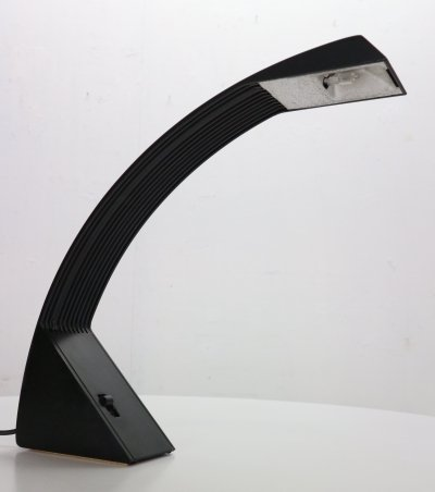 Marco Zotta 'Arcobaleno' Table Black Lamp for Cil Roma, Italy 1970's