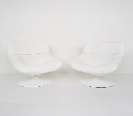 Set of two Geoffrey Harcourt for Artifort F518 lounge chairs, the Netherlands 1960s