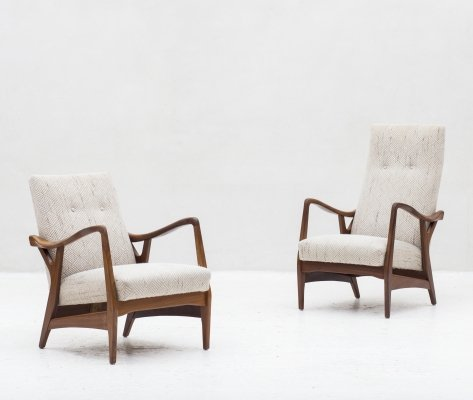 Set of 2 easy chairs by Topform, Dutch design 1950's