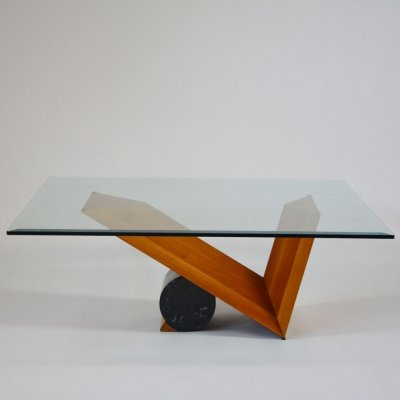 Valentino glass coffee table by Cattelan Italia