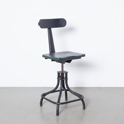 Leabank model KH2 work stool, 1940s