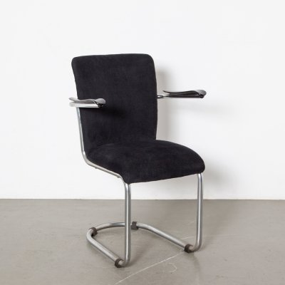 De Wit Schiedam model 1018 chair in black