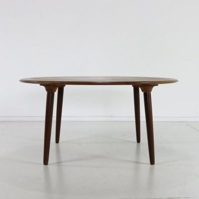 Danish coffee table with wooden starburst inlay, 1960s