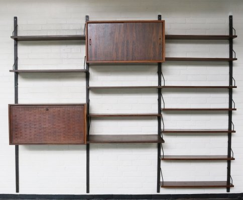 Rosewood wall system by Poul Cadovius for Royal Denmark, 1960s