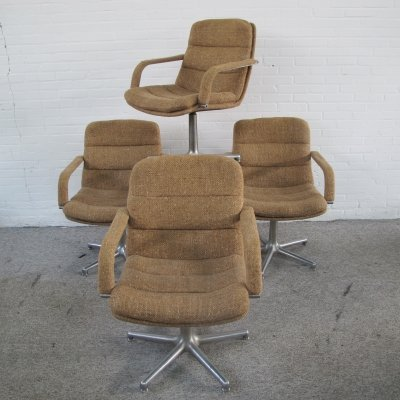 Four Channel Office Chairs by Geoffrey Harcourt for Artifort, 1960s