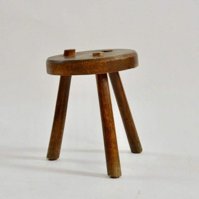 Primitive French Stool, 1940s