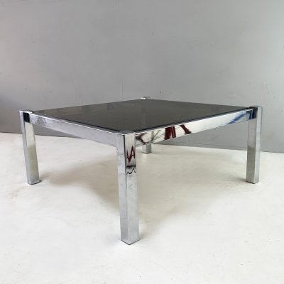 1970's mid century large chrome coffee table
