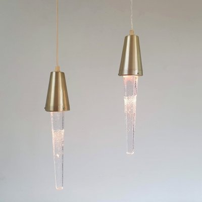 Pair of Icicle pendant lights by Ateljé Engberg