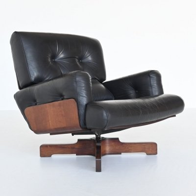 Menilio Taro model 401 rosewood lounge chair by Cinova, Italy 1964