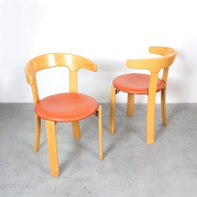 Pair of dining chairs by Bruno Rey for Kusch & Co, 1970s