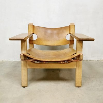 Midcentury design Spanish chair by Borge Mogensen for Fredericia, 1970s
