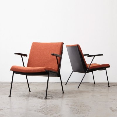 Pair of Oase Chairs by Wim Rietveld for Ahrend de Cirkel, 1958