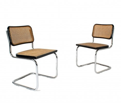 Set of Marcel Breuer B32 Cesca Dining Room Chairs for Gavina