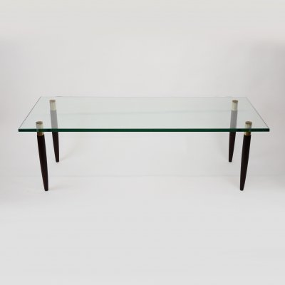 Scandinavian Glass & Topped Coffee Table, 1960s