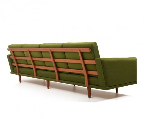 Mid Century High-Quality Danish Teak 4-Seater Sofa