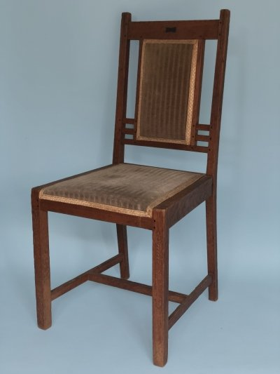 Art Deco 'Nieuwe Kunst' Oak Chair by Pander, 1910s