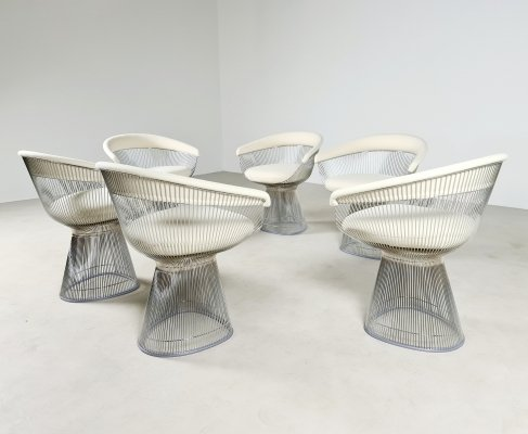 Set of 6 dining chairs by Warren Platner for Knoll International