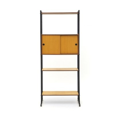 Bookcase with metal uprights, 1960's