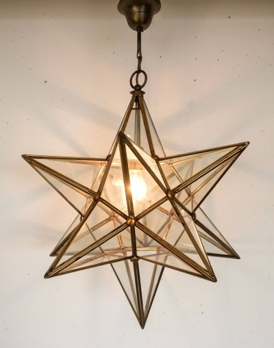 Mid-century hanging lamp in the shape of a star, Italy 1970's