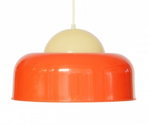 Large plastic pendant light by Fagerhults Belysning, Sweden 1970s
