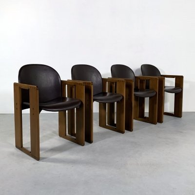 Set of 4 Dialogo Dining Chairs by Afra & Tobia Scarpa for B&B Italia, 1970s