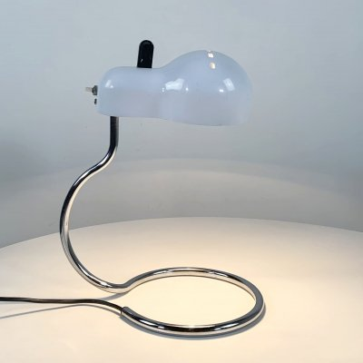 White Topo Desk Lamp by Joe Colombo for Stilnovo, 1970s