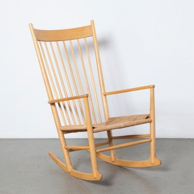 J16 Rocking Chair by Hans J Wegner for Fredericia, 1970s