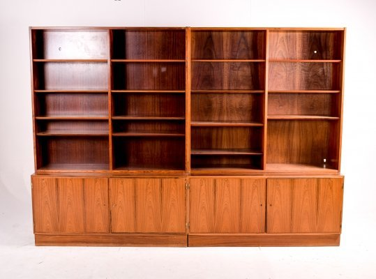 Pair of Danish Modern Rosewood Bookcase Units, 1960