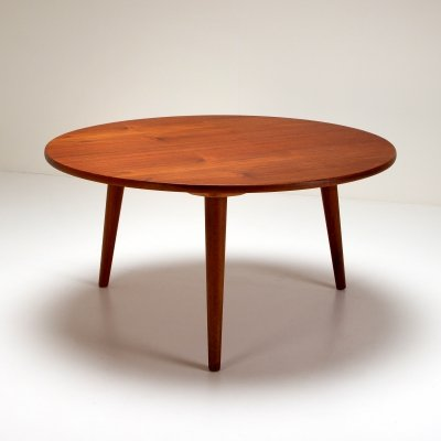Circular Teak Coffee Table by Hans Wegner for Andreas Tuck, Denmark 1950s