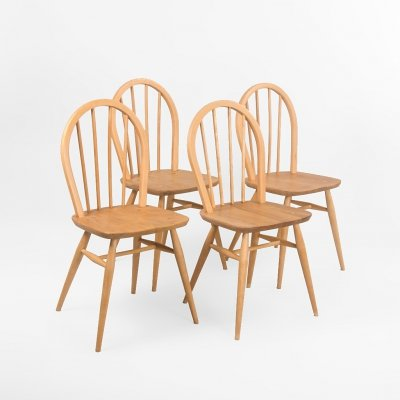 Set of 4 Ercol chairs by Lucian Ercolani, 1960's