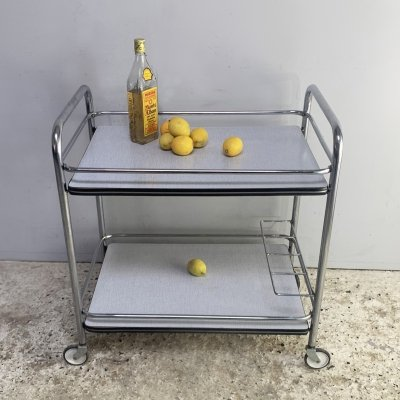 1960's mid century Formica drinks trolley