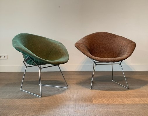 Diamond chairs by Harry Bertoia for Knoll, 1970's