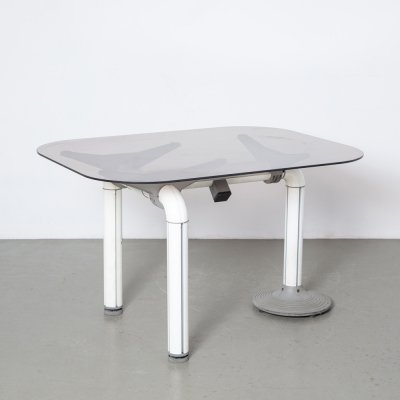 Schirolli desk or table in white & grey