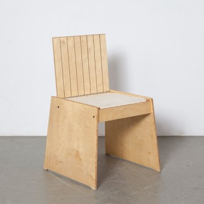 Trapezoid Plywood Stool / Chair, 1990s