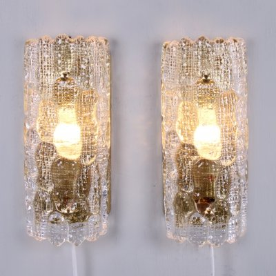 Pair of Wall Lights by Carl Fagerlund for Orrefors, 1960s