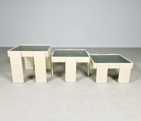 Set of 3 nesting tables by Gianfranco Frattini for Cassina, 1960s