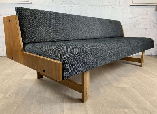Scandinavian Oak GE-258 Daybed by Hans J. Wegner for Getama, 1960s