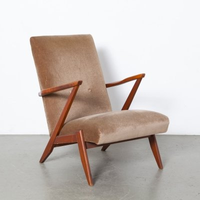 Dutch design high back Armchair, 1960s